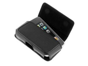 Fosmon Horizontal Black Leather Case for Verizon Apple iPhone 4 / iPhone 4S