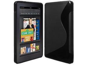 Fosmon S-Curve Design Soft Shell TPU Case Cover fits Amazon Kindle Fire - Black