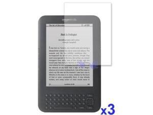 3 Pack Clear LCD Screen Protector for Amazon Kindle 3 E-Book Reader