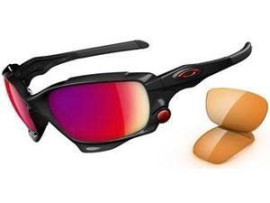 Authentic Oakley Polarized Jawbone Sunglasses Model 26-223 Polished black frame 00 Red Iridium/ Persimmon Lens