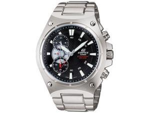Casio EF537D-1A Stainless Steel Edifice Quartz Chronograph Black Patterned Dial