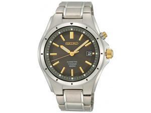 Seiko SKA495 Titanium Kinetic Date Two Tone Gray Dial Link Bracelet