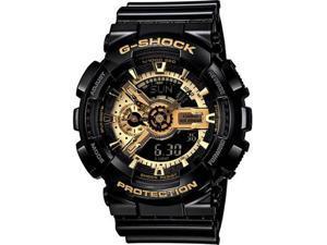 Casio GA110GB-1A Black G-Shock Digital Anti-Magnetic Gold Tone Analog