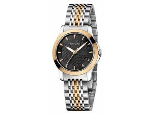 Gucci Timeless Black Dial Two-tone Stainless Steel Ladies Watch YA126512