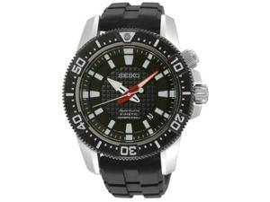 Seiko SKA511P2 Stainless Steel Sportura Kinetic Diver Black Dial Rubber Strap