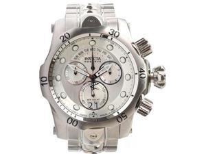 Invicta 1537 Stainless Steel Reserve Venom Quartz Chronograph Diver Silver Dial Day Date