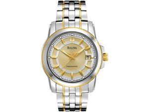 Bulova Precisionist Champagne Dial Two-tone Mens Watch 98B156