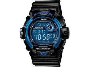 Casio G8900A-1 G-Shock Shock Resistant Blue Dial Black Resin Strap Digital