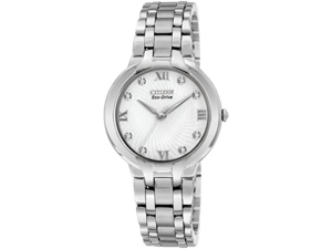 Citizen EM0130-54A Bella Eco-Drive Stainless Steel Case and Bracelet Silver Tone Dial