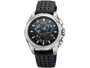 Citizen AT7030-05E Proximity Bluetooth 4.0 Technology Perpetual Calendar Eco-Drive Stainless Steel Case Leather Bracelet Black Dial