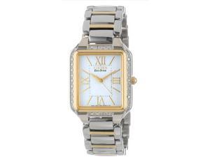 Citizen EM0194-51A Eco-Drive Ciena Two Tone Stainless Steel Case and Bracelet White Tone Dial