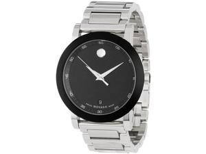 Movado Museum Black Dial Stainless Steel Mens Watch 0606604