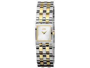 Citizen EX1304-51A Jolie Eco-Drive Two Tone Stainless Steel Case and Bracelet White Tone Dial