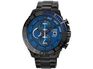 Citizen CA0525-50L Eco-Drive Nighthawk Chronograph Titanium Case and Bracelet Blue Tone Dial