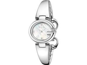 Gucci Guccissima Diamond Mother of Pearl Dial Steel Ladies Watch YA134504
