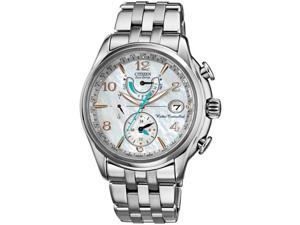 Citizen FC0000-59D Eco-Drive Radio Controlled Stainless Steel Case and Bracelets Mother of Pearl Dial Sapphire Crystal Date Display
