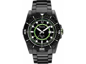 Bulova 98B178  Men's Watch - Marine Star, Black Ion-Plated, Stainless Steel