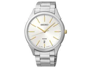 Seiko Classic Silver Dial Stainless Steel Mens Watch SGEG71