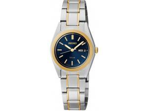Seiko Solar Blue Dial Two-tone Ladies Watch SUT110