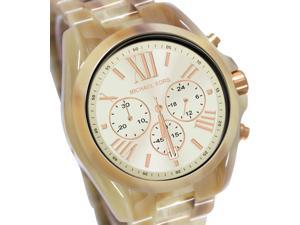 Michael Kors MK5840 Chronograph Plastic Resin Case and Bracelet Champagne Tone Dial Date Display