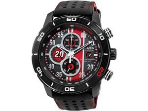 Citizen CA0530-41E Matt Kenseth Limited Edition Primo Drive Eco-Drive Chronograph Stainless Steel Case Leather Bracelet Red Tone Dial Date Display
