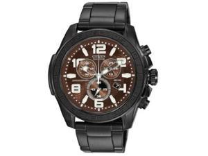 Citizen AT2275-56X Drive Collection Eco-Drive Chronograph Stainless Steel Case and Bracelet Brown Tone Dial