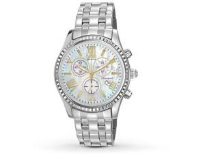 Citizen FB1360-54D Eco-Drive Chronograph Stainless Steel Case and Bracelet Mother of Pearl Dial Date Display