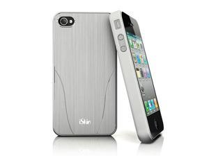 iSkin Aura Case for iPhone 4 / 4S - Silver / White