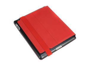 Hornettek Voyager Hard Shell Metallic Hairline Design Folio Case for Apple The New iPad 3 - Ferrari Red HT-IPD3-VO-02