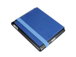 Hornettek Voyager Apple iPad 3 Hard Shell Metallic Hairline Design Folio Case-Ocean Blue  HT-IPD3-VO-04