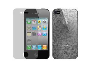 Hornettek Diamond Shield Anti-Scratch/Glare/Finger Proof Screen&Back Protection Film for iPhone 4 /4S- Diamond Texture
