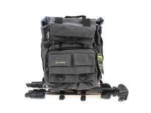Evecase Canvas DSLR Camera Backpack w/Rain Cover - Gray for Canon EOS 5DS/5DS R, T6i/T6s, EOS 7D Mark II, 70D, 60D, 60Da, 6D, 5D Mark III/Mark II, 50D, 40D, SL1, T5i, T5, T4i, T1i, XSi, XTi, XS