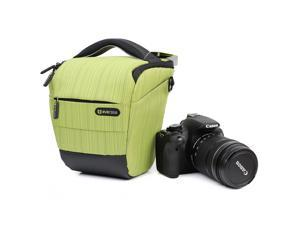 Evecase Compact DSLR Camera Case/Bag with Strap - Light Green for Olympus OM-D E-M1, E-M5, E-M10, SP-100, SP-820UZ, SP-610UZ, SP-815UZ, SP-810UZ, SP-800UZ, SP-600 UZ, E-PM2, E-PL5, E-PL2, E-PL1
