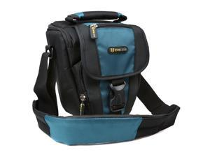 Evecase Durable Digital SLR Camera Carrying Pouch Nylon Case with Strap- Black/Blue for Canon EOS Rebel 60Da, 60D, T2i, 7D, ...