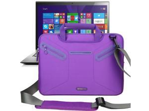 Evecase Multi-functional Neoprene Messenger Case Tote Bag for Lenovo ThinkPad X1 Carbon (2014) New 14 inch Touchscreen IPS Ultrabook i7-4600U 20A70037US / 20A70033US/ 20A7002QUS Laptop - Purple