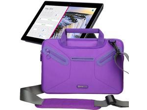 Evecase Multi-functional Neoprene Messenger Case Tote Bag for Microsoft Surface Pro 2 , Surface 2, Surface RT & 8 Pro - 10.6 inch Tablet – Purple