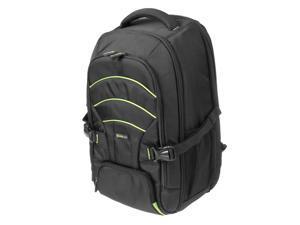 Evecase Large DSLR Camera/Laptop Travel Backpack Gadget Bag w/ Rain Cover for Nikon SLR Series Digital Cameras- Black/Green