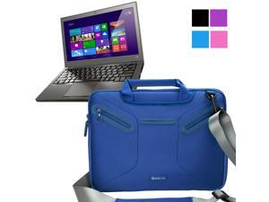 Evecase Lenovo Thinkpad X240 12.5 inch Laptop Case, Supper Protection Sleeve Shoulder Bag / Multi-functional Briefcase Carrying Messenger Case Tote Bag w/ Handle and Shoulder Strap - Blue