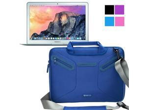Evecase Apple MacBook Air 13, 13.3 inch Laptop Case, Supper Protection Sleeve Shoulder Bag / Multi-functional Briefcase Carrying Messenger Case Tote Bag w/ Handle and Shoulder Strap - Blue