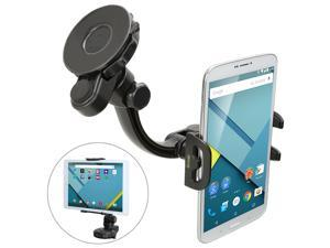 iKross Universal Car Windshield / Dashboard / Desk Table Suction Mount Gel Pad Stand Holder Cradle for 4- 6.4 inch SmartPhone & 7- 10.1 inch Tablet