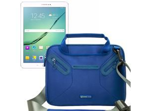 Evecase Samsung Galaxy Tab S2 / Tab A 9.7 Inch Tablet Messenger Bag, Neoprene Tote Shoulder Bag w/ Handle & Accessory Pocket / Ultra Portable Computer Briefcase Carrying Sleeve Pouch Cover – Blue