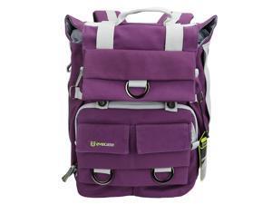 Evecase Canvas DSLR Camera Backpack w/Laptop Compartment & Rain Cover for Nikon D810, D800/D800E, D750, D700, D610, D600, D90, D80, D60, D7200, D7100, D7000, D5500, D5300, D5200, D3300 (Purple)