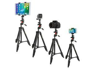 Tripod, iKross 47-inch Light Weight CameraTripod with Smartphone / Gopro / Tablet Adapters and Carrying Bag
