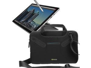 Evecase Microsoft Surface Pro 4 12.3inch Tablet Neoprene Messenger Case Tote Bag with Handle and Carrying Strap – Black