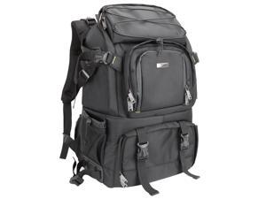 Evecase Extra Large Pro Digital SLR Camera/Lens Kit/Laptop Backpack Case with Rain Cover – Black