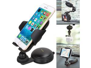 iKross Flexible Dashboard Windshield Car Mount Holder Cradle with Adapter for Smartphone, digital Camera and Go Pro Hero