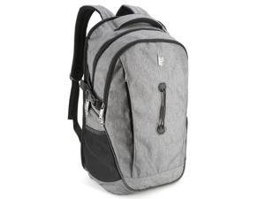 17.3-inch Laptop Backpack - Evecase School College Backpack for Laptop / chromebook / Ultrabook up to 17.3-inch - Gray
