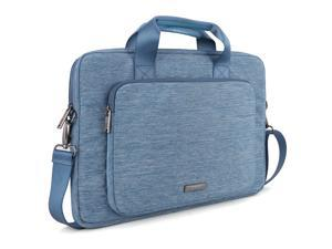 Evecase 15 - 16 Inch Stylish Handle Universal Suit Fabric Multi-functional Briefcase with Shoulder Strap for Laptop Ultrabook Computer - Blue (ACER ASUS HP SONY TOSHIBA DELL LENOVO SAMSUNG APPLE)