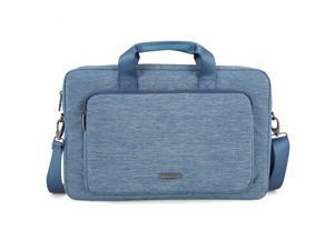 Evecase 17 - 17.3 Inch Classic Padded Briefcase Messenger Bag with Shoulder Strap and Handle for Laptop Notebook Ultrabook Chromebook Computer - Blue