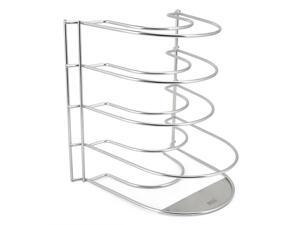 EZOWare Stainless Steel Kitchen Counter and Cabinet Pan Organizer Shelf Rack - 4 Tier
